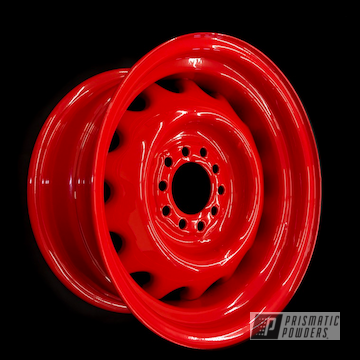 Powder Coated Red Steel Pontiac Rims