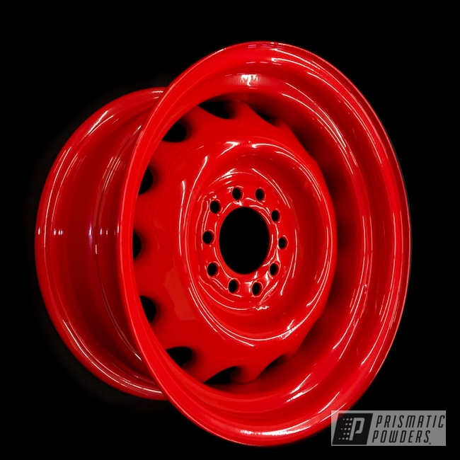 Powder Coating: Automotive,Car Rim,Monster Truck,Car,Steel Rim,Steel Wheel,Car Parts,Astatic Red PSS-1738,Pontiac,Steel Rims