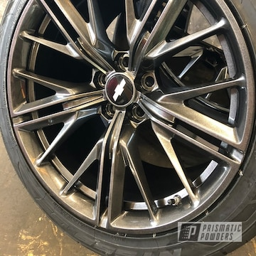 "Powder Coated Grey 20"" Chevy Wheels"