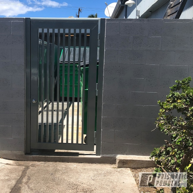 Powder Coating: Lahaina,Slated,Gates,Entry,Shopping Mall,Commercial,RAL 7043 RAL-7043,Mangate,Maui,The Lahaina Cannery Mall,Miscellaneous