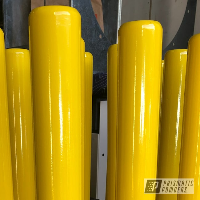 Powder Coating: Post Guides,RAL 1023 RAL-1023,Traffic Yellow PSS-2380,Pilings,Metal Post,Miscellaneous