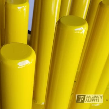 Powder Coated Yellow Parking Pilings