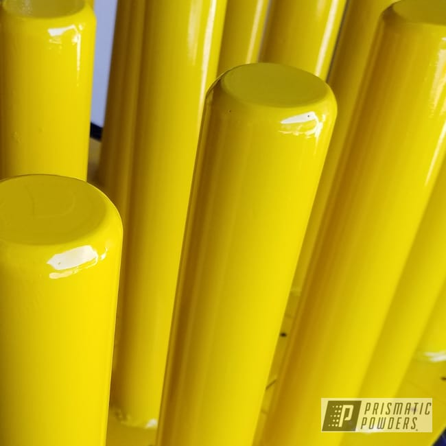 Powder Coating: Post Guides,RAL 1023 Traffic Yellow,Traffic Yellow PSS-2380,Pilings,Metal Post,Miscellaneous