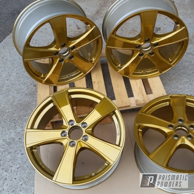 "Powder Coating: Wheels,Automotive,Aluminium Wheels,Brassy Gold PPS-6530,20"" Aluminum Wheels"