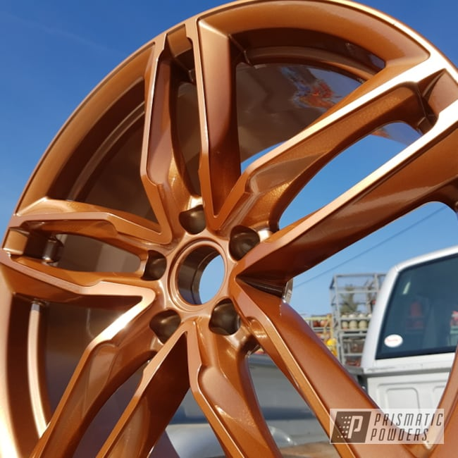 Powder Coated Rust Brown Custom 20 Inch Wheels