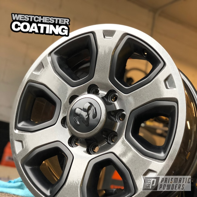 Powder Coating: Wheels,Automotive,Clear Vision PPS-2974,Monster Truck,Dodge,Kingsport Grey PMB-5027,Ram,Truck wheels,2500