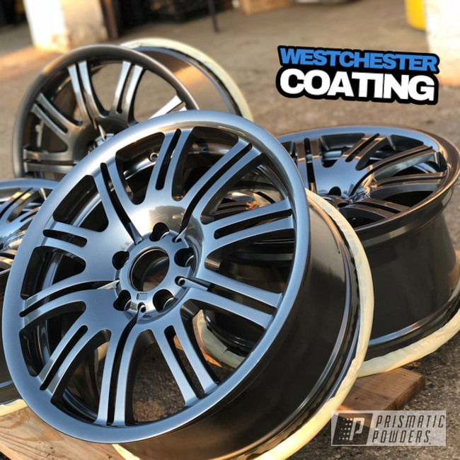 Powder Coating: Wheels,Automotive,BMW,M3,ULTRA BLACK CHROME USS-5204