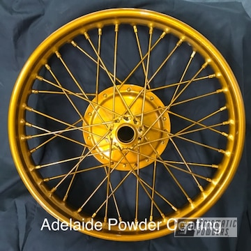 Powder Coated Gold Bike Wheel