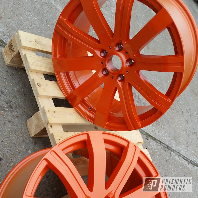 "Powder Coating: Wheels,Automotive,Clear Vision PPS-2974,Aluminium Wheels,20"",20"" Aluminum Wheels,Illusion Tangerine Twist PMS-6964"