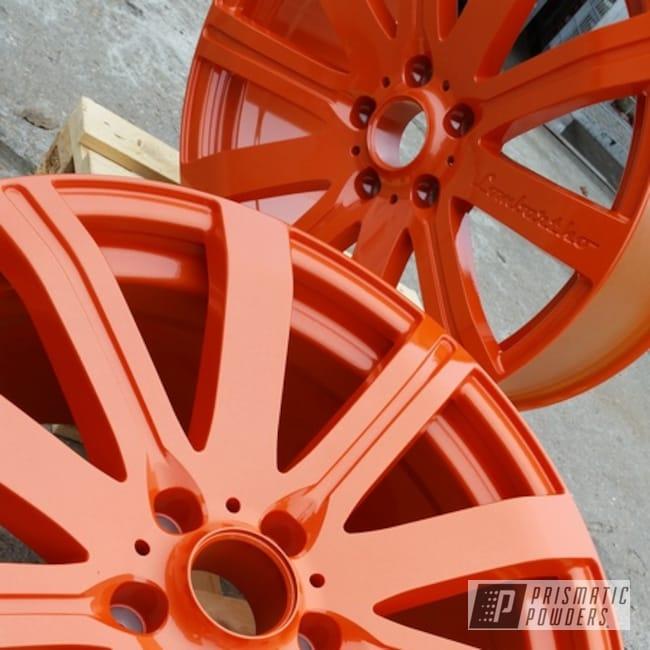 "Powder Coating: Wheels,Automotive,Clear Vision PPS-2974,Aluminium Wheels,20"",20"" Aluminum Wheels,Illusion Tangerine Twist PMS-6964"