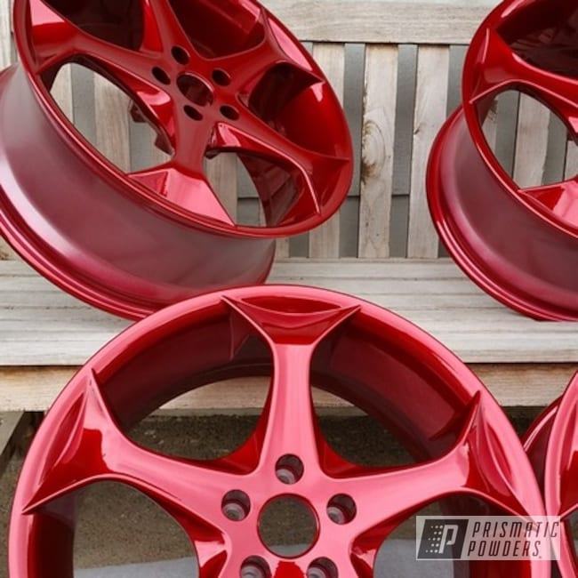 "Powder Coating: DAZZLING RED UPB-1453,Wheels,candy red,Automotive,Aluminum Wheel,20"" Aluminum Wheels"