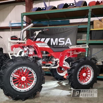 Powder Coated White Honda 300 Atv Parts And Wheels
