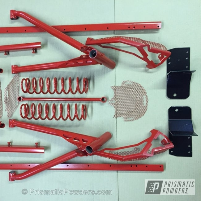 Powder Coating: Snowmobile Parts,Really Red PSS-4416,Off-Road,Miscellaneous