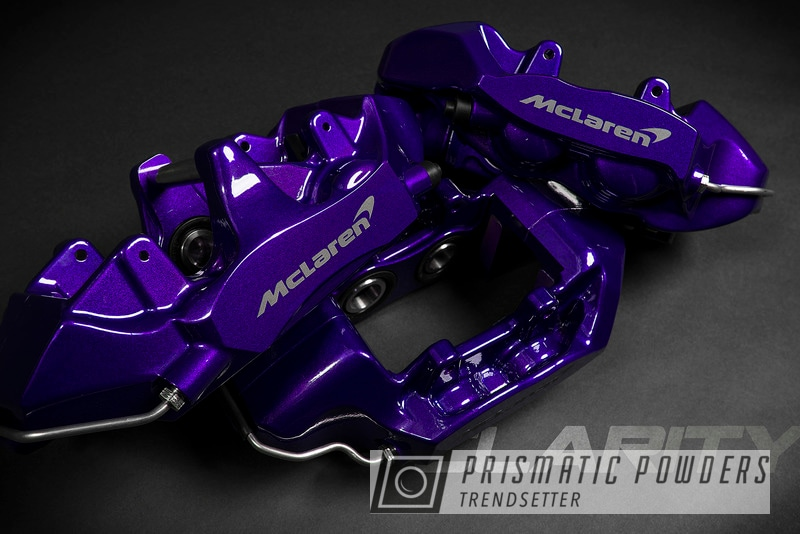 Powder Coating: Automotive,McLaren,Brakes,Brembo,Brake Calipers,720S,Alien Silver PMS-2569,Lollypop Purple PPS-1505,driveclarity