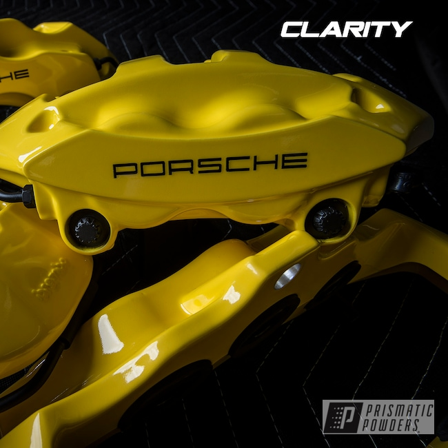 Powder Coating: Automotive,Clear Vision PPS-2974,Brembo,Brake Calipers,Porsche,Hot Yellow PSS-1623,driveclarity,911