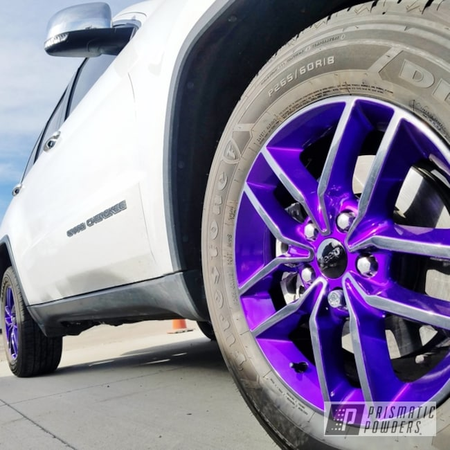 Powder Coated Purple And Black Jeep Cherokee Wheels
