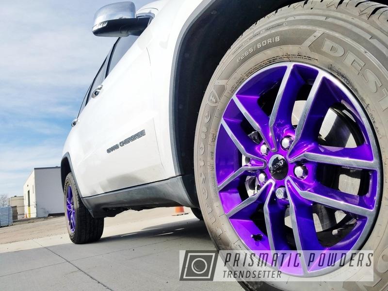 Powder Coating: Illusion Purple PSB-4629,Wheels,Automotive,Clear Vision PPS-2974,GLOSS BLACK USS-2603,Cherokee Wheels,Jeep