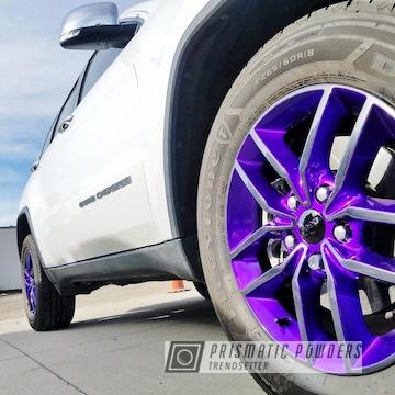 Powder Coated Purple And Black Jeep Cherokee Wheels