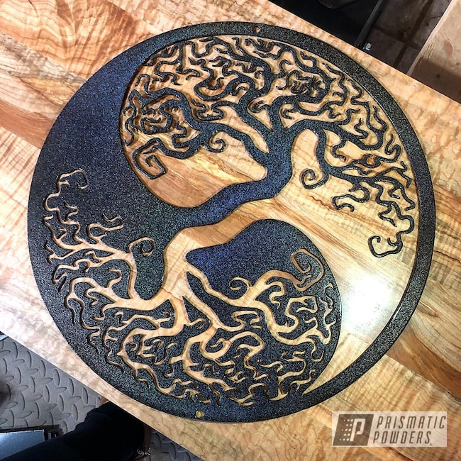 Powder Coating: Metal Art,Ink Black PSS-0106,City Lights PMB-2689,Art,Miscellaneous