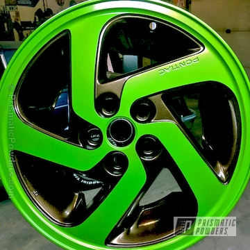 Lime Juice Green And Bronze Chrome