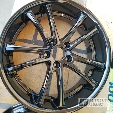 Powder Coated Black 20 Inch Wheels