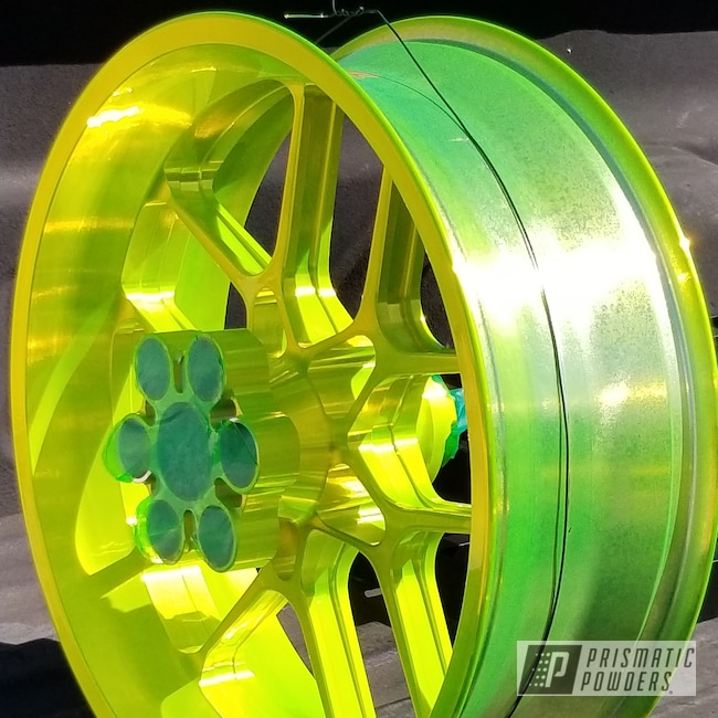Powder Coating: Wheels,Motorcycle Parts,Motorcycles,Shocker Yellow PPS-4765,stunt bike