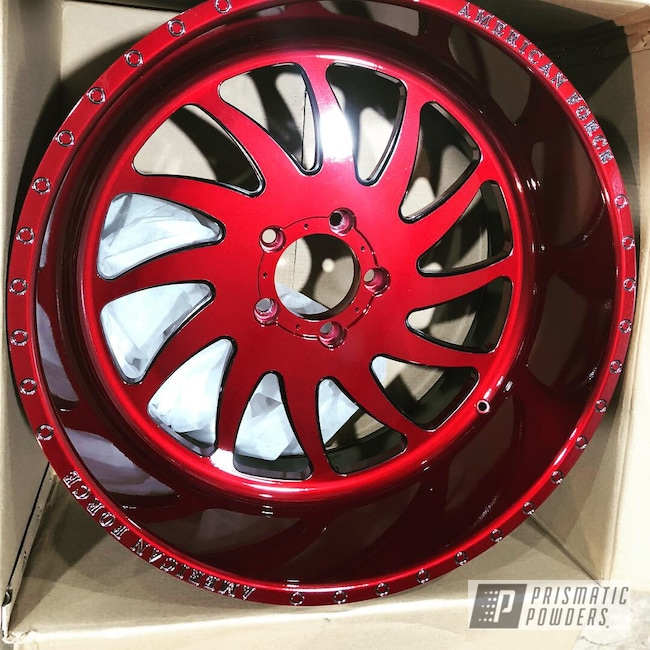 Powder Coating: Wheels,Automotive,Clear Vision PPS-2974,Illusion Cherry PMB-6905,Misty Lava PMB-4217,American Force