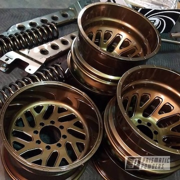 Powder Coated Bronze Dually Wheels For Dodge 3500