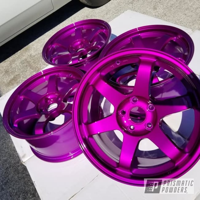 Powder Coating: Wheels,Automotive,Clear Vision PPS-2974,Illusion Violet PSS-4514