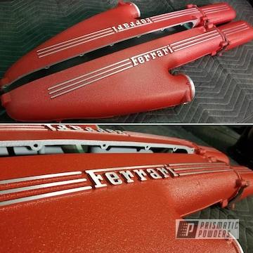 Powder Coated Red Ferrari Valve Covers