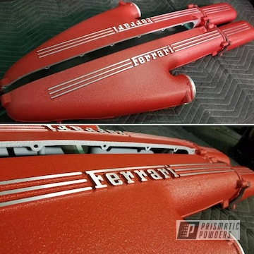 Powder Coated Red Ferrari Valve Covers