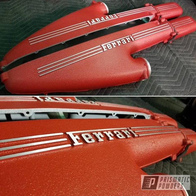 Powder Coating: Automotive,Valve Covers,Textured Finish,Ferrari,Desert Red Wrinkle PWS-2762