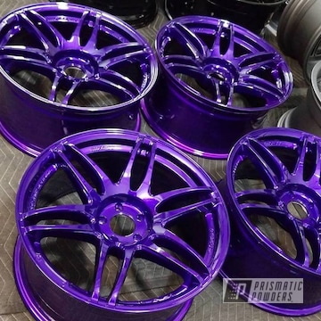 Powder Coated Candy Purple Wheels