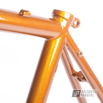 Copper Color Bicycle Frame