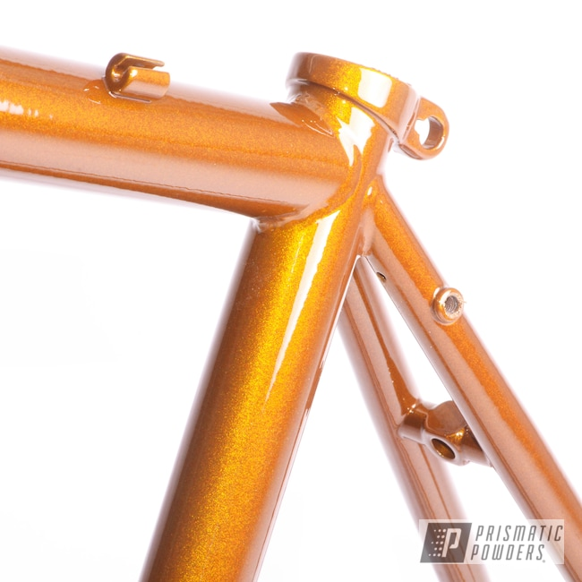 Powder Coating: Bicycle Frame and Fork,Bicycles,Clear Vision PPS-2974,Illusion Dorado PMB-6921,Bike Frame,Bicycle