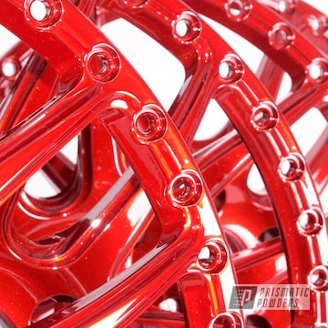 Powder Coated Metallic Red Rim Faces