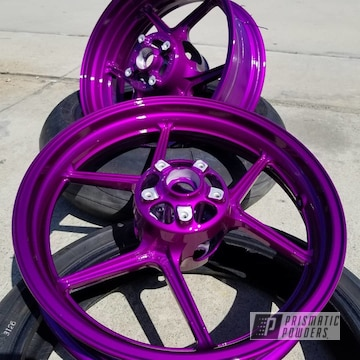 Powder Coated Candy Purple Kawasaki Ninja Wheels
