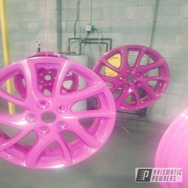 Powder Coating: Wheels,Automotive,Rims,RAL 4010 RAL-4010
