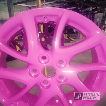 Powder Coated Pink Custom Rims