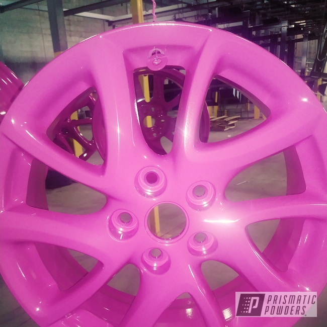 Powder Coating: Wheels,Automotive,Rims,RAL 4010 Telemagenta