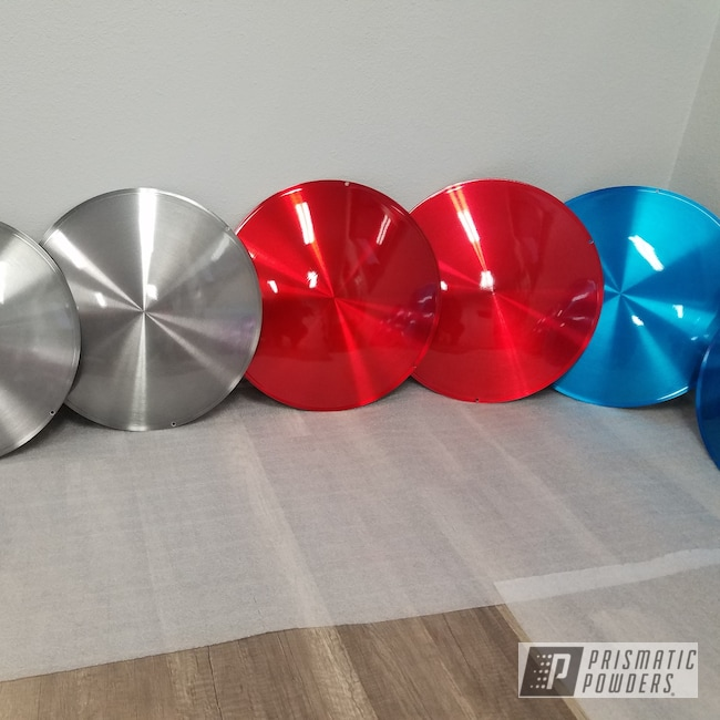 Powder Coating: Wheels,Automotive,Powder Coated Hub Cap,Transparent Blue PPS-5140,LOLLYPOP RED UPS-1506,Aluminium Wheels,Lighter Smoke PPB-6539,ANODIZED GRAPE UPB-1510,16""