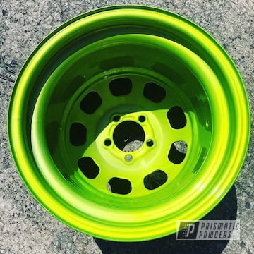 Powder Coated Neon Green Custom Rim