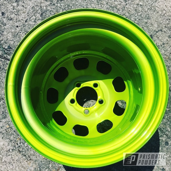 Powder Coating: Wheels,Automotive,Clear Vision PPS-2974,Illusion Shocker PMB-10050