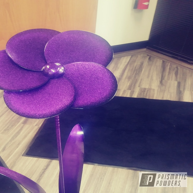 Powder Coating: Metal Art,Decor,Flower,Art,Disco Purple PPB-7033,Garden,Miscellaneous