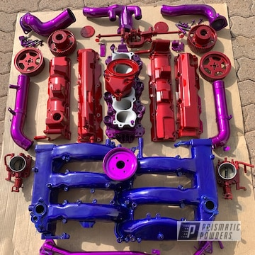 Powder Coated Nissan 300 Engine Parts