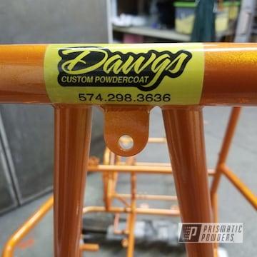 Powder Coated Orange Micro Sprint Race Frame