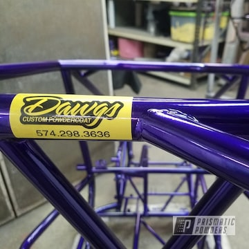 Powder Coated Purple Race Frame And Shocks