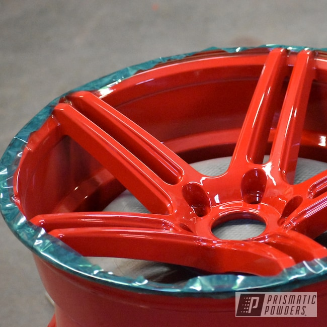 "Powder Coating: Wheels,Automotive,Clear Vision PPS-2974,18"",Gloss Red,Wide Wheels,powder coating,18"" Wheels,Astatic Red PSS-1738"