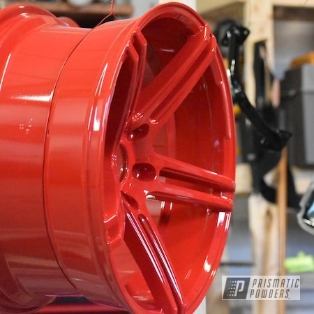 """Powder Coating: Wheels,Automotive,Clear Vision PPS-2974,18"""",Gloss Red,Wide Wheels,powder coating,18"""" Wheels,Astatic Red PSS-1738"""