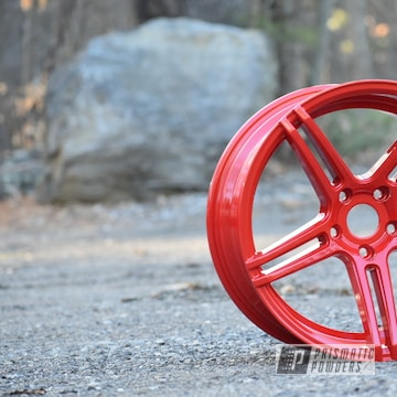 Powder Coated Red 18 Inch Wide Wheels
